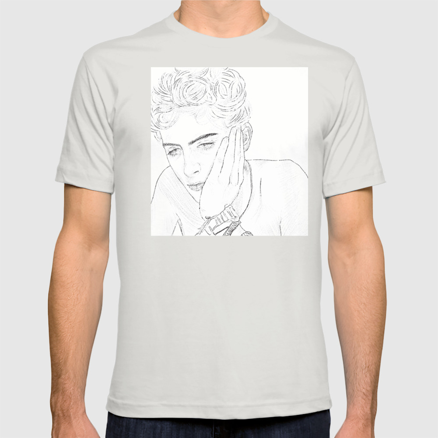 Timothee Chalamet Elio From Cmbyn T Shirt By Tris Artistry Society6