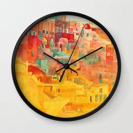 Summer on Mykonos Wall Clock