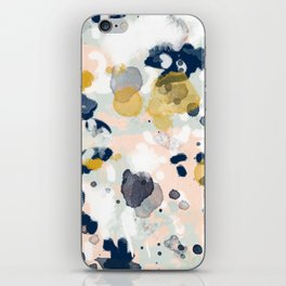 Esther - abstract minimal gold navy painting home decor minimalist hipster art iPhone Skin
