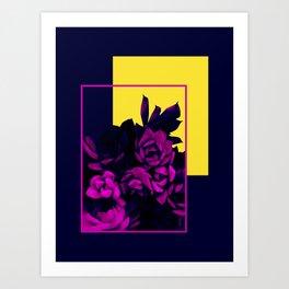 Neon Succulents #society6 #succulent Art Print