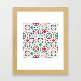 Cute Eastern Pattern Framed Art Print