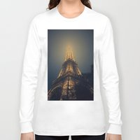 eiffel tower Long Sleeve T-shirts featuring Eiffel Tower  by cchelle135