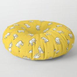 indian baby elephants Floor Pillow