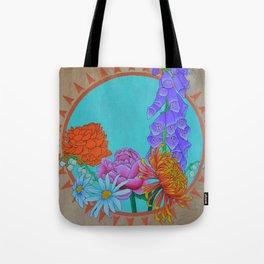 Flower Sunburst Tote Bag