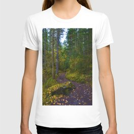 Walking along the Berg Lake Trail in Fall T-shirt