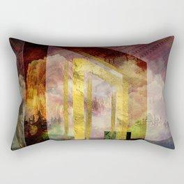 Uruz Rune Digital Art composition Rectangular Pillow