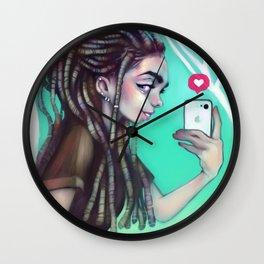 Selfie Girl Wall Clock