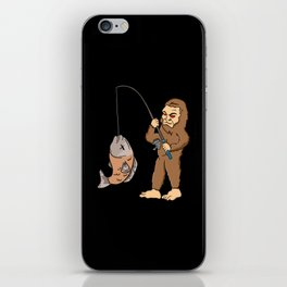 Fishing & Yeti Design: Bigfoot Carrying Fish iPhone Skin