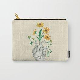 Floral Heart: Sunflower Human Anatomy Halloween Art Carry-All Pouch