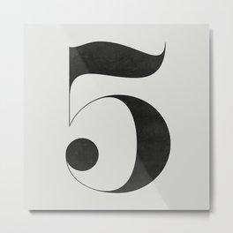 No. 5 Metal Print