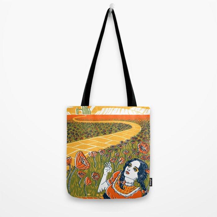 Dorothy in the Poppy Field Tote Bag