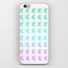 turquoise yin yang gradient iPhone & iPod Skin
