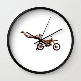 Motocross Stunt Jump Wall Clock