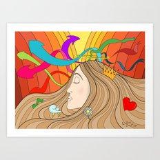 LOST IN HER DREAMS Art Print