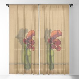 Calla lilies in bloom Sheer Curtain