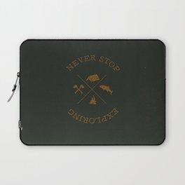 NEVER STOP EXPLORING Laptop Sleeve