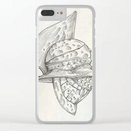 Roman helmet. Zentangle stylized. Vector illustration. Pattern. Clear iPhone Case