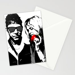 the Kills - Black and White with red Apple Stationery Cards