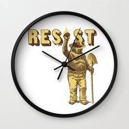 Smokey says Resist shirt Wall Clock
