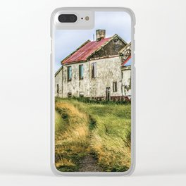 Crumbling Beauty Clear iPhone Case