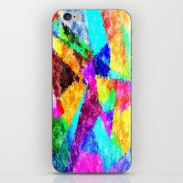 Formes géométriques multicolore iPhone Skin