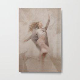 Jumping woman Metal Print