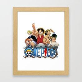 One Piece Poster Framed Art Print