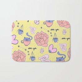Cute Pastel Pattern Bath Mat