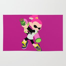 Inkling Boy (Pink) - Splatoon Rug