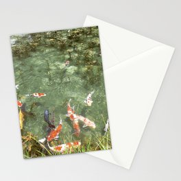 japanese carp Stationery Cards