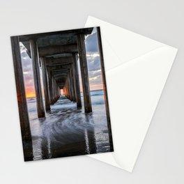 Pacific Ocean California Sunset La Jolla Scripps Pier Stationery Cards