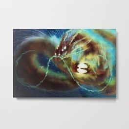 Nebula Dragon Metal Print