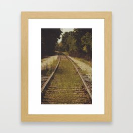 A path that leads to somewhere. Framed Art Print