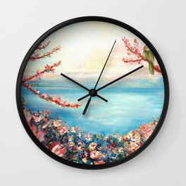 Magnolias - Geneva-Leman lake swiss Wall Clock