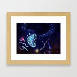 ABYSSAL FISH Framed Art Print