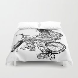 Void in Space (Blk) Duvet Cover