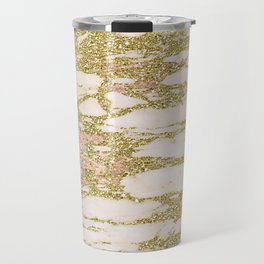 Troina rose gold marble Travel Mug