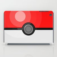 pokeball iPad Cases featuring Classic Pokeball by Amandazzling