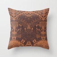 africa Throw Pillows featuring Africa by Akwaflorell