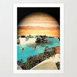 Galactic Space Pool Art Print
