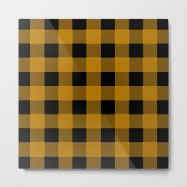 Yellow Buffalo Plaid Metal Print
