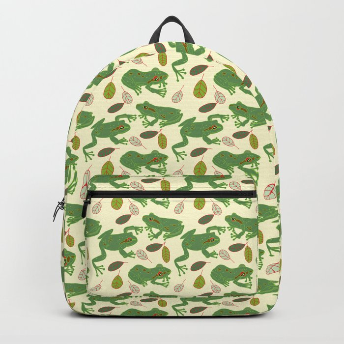 Fun Frogs with Leaves from Trees Backpack