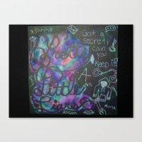 pretty little liars Canvas Prints featuring Pretty Little Liars Galaxy by Alexandrapatton12