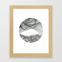 Stress Valley Framed Art Print