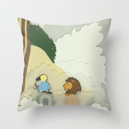 Great Lion in the Fog Throw Pillow