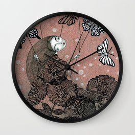 Night Garden (1) Wall Clock