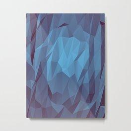 Bleu Plein Metal Print