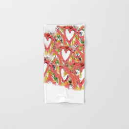 Pink hearts Hand & Bath Towel
