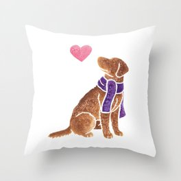 Watercolour Chesapeake Bay Retriever Throw Pillow