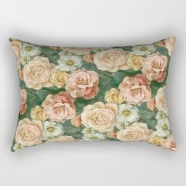 Floral rose pattern Rectangular Pillow